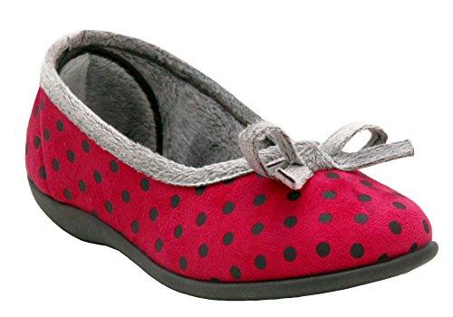 Polka Sleepers Pink donna da Pantofole ragazza Grey AxaFgwq
