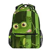 School Backpacks Curious Frog Student Backpack Big for Girls Kids Elementary School Shoulder Bag Bookbag