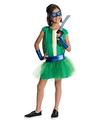 Turtle Kostüm, Kinder Mädchen Leonardo Tutu, groß, Alter 8-10Jahre, Höhe 4'20,3cm-5' 0cm ()