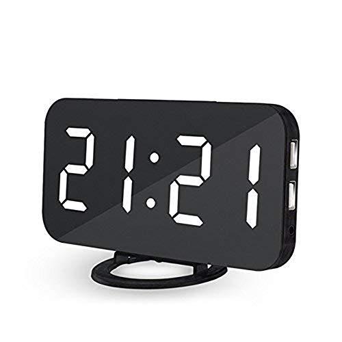 Lbsel Despertador Llevado EléCtrico De La ExhibicióN, 2 Puertos De Carga del USB, Reloj Despertador...