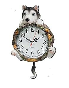 Horloge murale Comique Husky