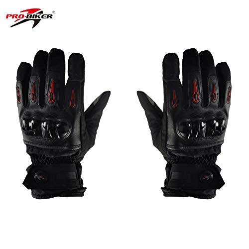 Starter impermeabile moto completa guanti dita , duro nocche guanti moto guanti touch screen, guanti ventilati in pelle da moto nocche in carbonio 3colori