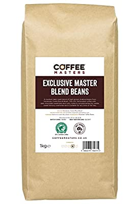 Coffee Masters Exclusive Master Blend of 100% Arabica Espresso Coffee Beans 1kg from Coffee Masters