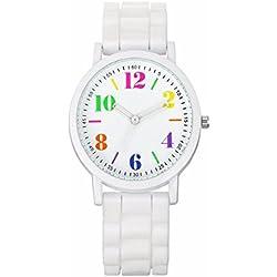 Rcool Neue Casual analoge Silica Jelly Gel Quarz Sport Armbanduhr für Dame