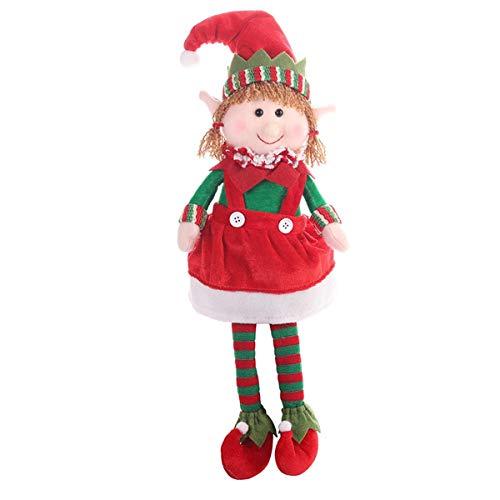 2019 Frohe Weihnachten Elf Puppe Spielzeug für Zuhause Ornamente für Kinder Geschenk Geburtstag Urlaub Tisch Dekoration Plüsch Puppe Spielzeug Weichen Nette
