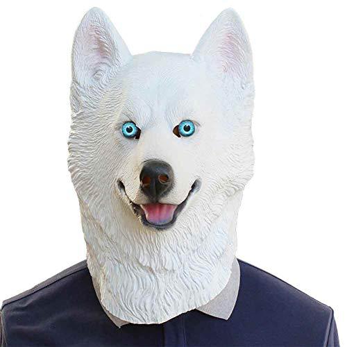 Kostüm Bat Mann Dog - Jke pan Halloween Party Party Aufgeräumte COS Maske Snow Leopard Dog Dog Latex Maske,1