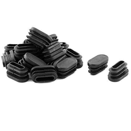 Sourcingmap® Pieds Forme Ovale Plastique Jambes Tuyau Tube Embouts Embouts Noir 20 PCS