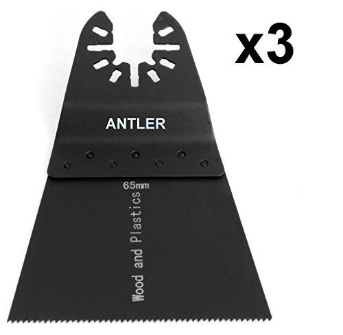 3x 65mm Antler Klingen Dewalt Stanley Worx F30Erbauer Black & Decker Pendelndes Multitool qab65wb