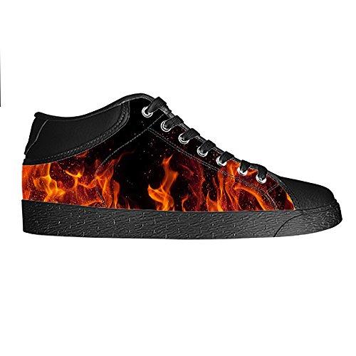 Dalliy feuer feuer Men's Canvas shoes Schuhe Lace-up High-top Sneakers Segeltuchschuhe Leinwand-Schuh-Turnschuhe A