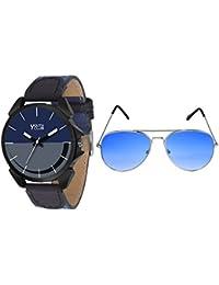 Youth Club New Stylish Daily Wear Watch With Free Blue Shades Ggl Watch For Boys-GGL-SMBU