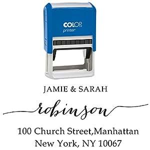 Pre Inked personalizzata in gomma Stamper invito a nozze per indirizzo Stamp invito a nozze auto inchiostrazione RSVP