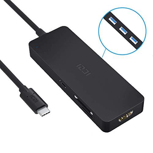 ICZI Hub USB C HDMI 7 en 1 Version 2, Adaptador USB Tipo C a HDMI 4K + USB PD Carga Rapida...