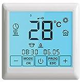 K & V Thermo Touch SE 200 smarte Heizungssteuerung Thermostat Wandthermostat mit Touch LCD – einfach programmierbar – IP 21