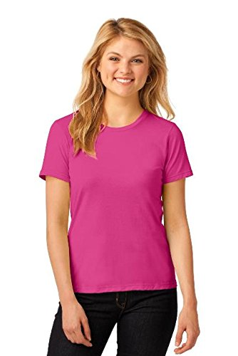 Amboss Damen ringgesponnene Baumwolle Fashion Fit T-Shirt Gr. Small, Rosa - Hot Pink (Hot Rosa T-shirt)