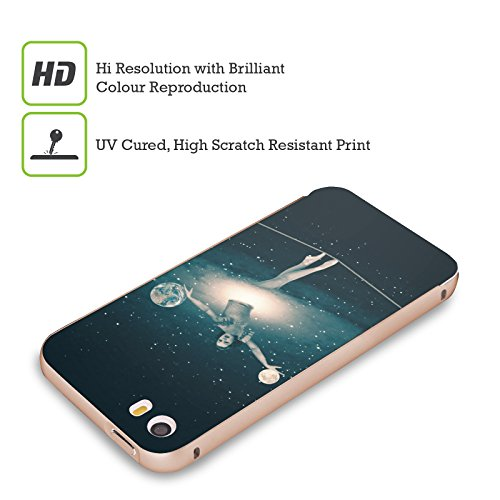 Ufficiale Paula Belle Flores La Mia Casa Da Sogno Spazio Surreale Oro Cover Contorno con Bumper in Alluminio per Apple iPhone 5 / 5s / SE Gioco Di Equilibri