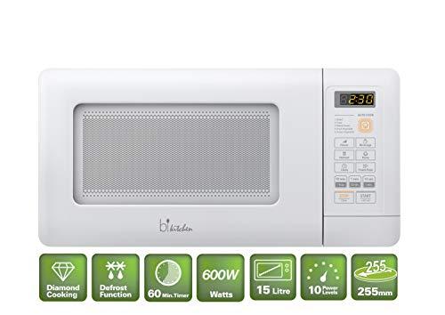 bkitchen Mini 200 Kompakt-Mikrowelle mit Auftau- und Diamond Cavity Funktion für gleichmäßige Erwärmung, unterbaufähig (Kompakt-mikrowelle)