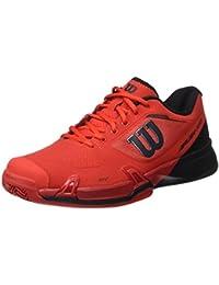 Wilson Wrs322640e080, Chaussures de Tennis Homme, Rouge (Wilson Red / Black / Barbados Cherry), 42 EU