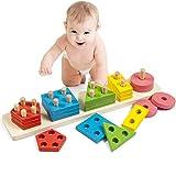 elegantstunning Montessori DIY mattoncini Giocattolo Intelligente in...
