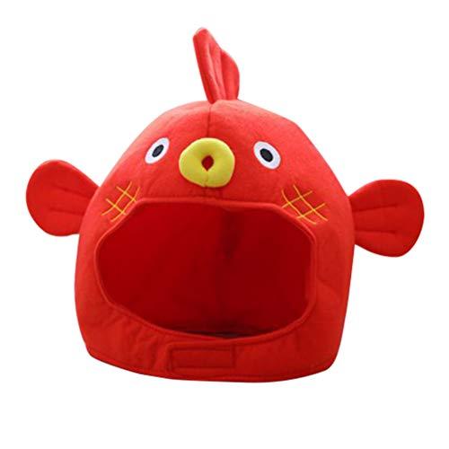 Roter Fisch Kostüm - Amosfun Nette Puffer Fisch Hut Cartoon