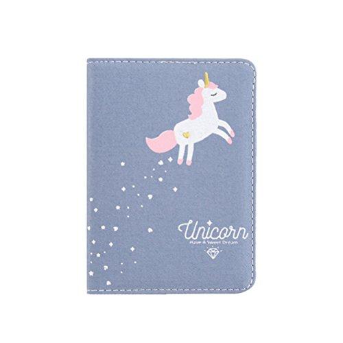 TOYMYTOY Taccuino disegno di Unicorno Colorato Originale Quaderno Diario per ragazze (Blu scuro)