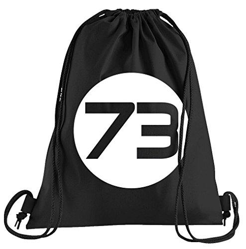 Sheldons Best Number 73 Sportbeutel - Bedruckter Beutel - Eine schöne Sport-Tasche Beutel mit - Besten Black Metal Kostüm