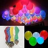 50 Ballons colorés LED - Ballons Lumineux à la lumière 50 x Ballons colorés LED Ballons Lumineux à la lumière 30cm pour la décoration de Noël Fête d'anniversaire