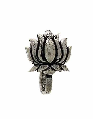 Anuradha Art Silver Metal Nose Pin For Women