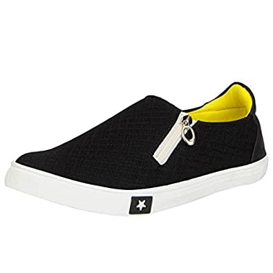 FAUSTO 1101-44 Black Men's Zipper Shoes