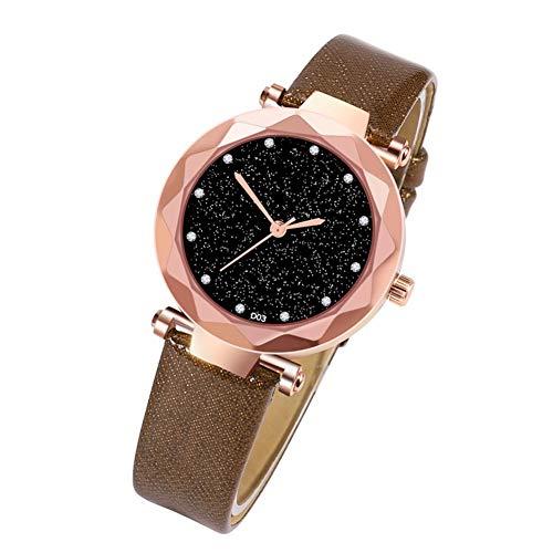 TODAYTOP Heute Modische einfache Quarzuhr Vielseitige weibliche Bunte Uhr für Mädchen Damen (Alte Dame Outfits)