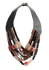 Hoss Intropia Multicoloured Resin Stone Amethist Necklace of 18-22cm