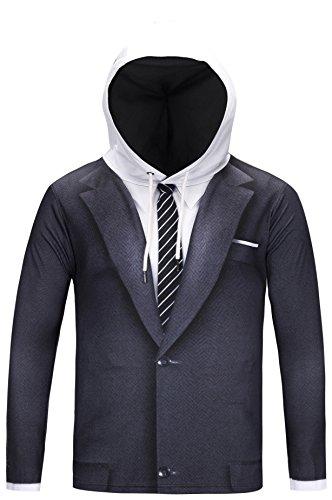 p cosplay Sweatshirt Maskerade Kapuzenpullover mit Bunt 3D sakko blazar anzug Digital Print (Halloween-schreck)