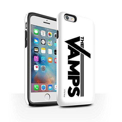 Offiziell The Vamps Hülle / Glanz Harten Stoßfest Case für Apple iPhone 6+/Plus 5.5 / Pack 6pcs Muster / The Vamps Graffiti Band Logo Kollektion Weiß/Schwarz