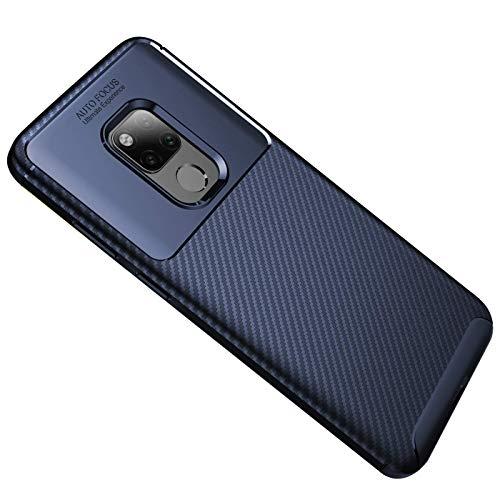 Huawei Mate 20X Hülle Handyhülle, Ultra Dünn TPU Silikon Anti-Fingerabdruck Anti-Scratch Case Carbon Handyhülle für Huawei Mate 20 X (7.2