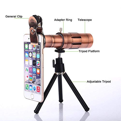 Coolmobiz 20X Dual Focus Optics Zoom Portable Night Vision_High Definition_Handheld Mobile Clip Tripod with Mobile Phone Lens  Telephoto