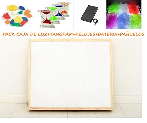 Pack caja luz Montessori RGBW 40x50cm + materiales