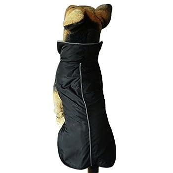 BXT Veste pour Chien Manteau d'hiver Imperméable Hiver-Coat Chaud à Carreaux Chaude Hiver Doux Pull Veste Manteau Sweat-shirt d'hiver Automnepour Petit Chien Chiot Couleur- Noir( Taille XXL)