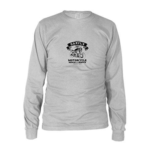 Daryl's Motorcycle Service - Herren Langarm T-Shirt, Größe: XXL, Farbe: weiß