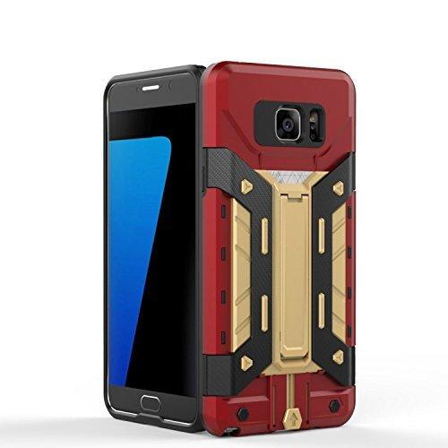 ekinhui iPhone sich 5S 5Schutzhülle, New Hybrid Rüstung Defender PC + TPU Hard Case DE Schutz [stoßfest Case] mit Schlitz Stand/Karte für iPhone sich 5S 5 Gold