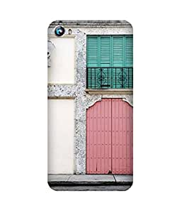 Door Printed Back Cover Case For Micromax Canvas Fire 4 A107