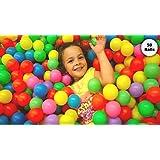 EEVOVEE Kid's Plastic Pool Balls without Sharp Edges (Multicolour, 8 cm)-Set of 50