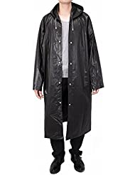 Vancool Mode EVA durable pluie Manteau, pluie Poncho, unisexe Hommes Femmes avec capuchon et à manches, réutilisables, portable, pliable.