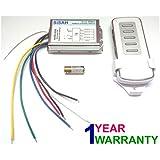 SiSAH Plastic 4 Way RF Remote Control Switch Metal Body (Multi-Colour, Standard Size)