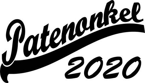 Mister Merchandise Herren Men V-Ausschnitt T-Shirt Patenonkel 2020 Tee Shirt Neck bedruckt Schwarz