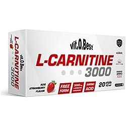 Vitobest L-Carnitine 3000, 20 Viales, Sabor Fresa - 200 ml