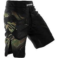 Smmash MMA BJJ UFC - Pantalones cortos para deportes de lucha, color verde Talla:S