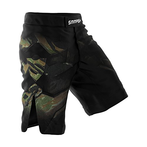 SMMASH MMA Pantaloncini TIGER ARMOUR MMA BJJ UFC sport di combattimento (L)