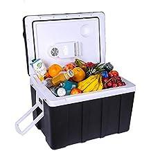 L&K Refrigerador/Congelador Portátil 50L Refrigerador Eléctrico Compacto del Coche del Vehículo 12V (CC