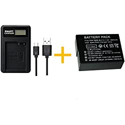 1 pcs 1800 mAh DMW-BLC12 DMWBLC12 Batterie avec LCD Chargeur de Batterie Unique pour Panasonic Lumix FZ1000, FZ200, FZ300, G5, G6, G7, GH2, DMC-GX8
