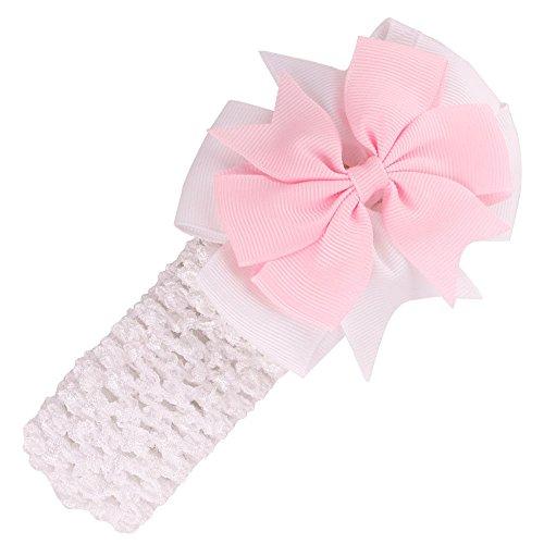 DDLBiz® Girls Stirnbänder-Haar-Accessoires für Mädchen Baby-Haar-Band (Weiß) (Weiße Und Gelbe Baby-stirnband)