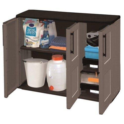 Art Plast F101B Kunststoff grau Waschtisch Ranking-Ranking und Zubehör–Möbel und Zubehör (370mm, 105mm, 900mm)